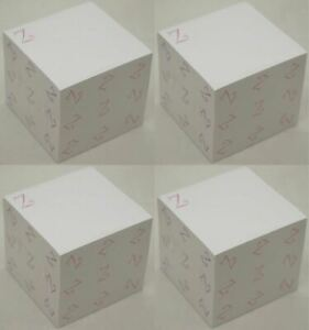 2400 Post it Sheets Notepad The Letter Z White Sticky Notes 3 Square Office New