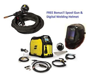 Esab Rebel Emp 285ic Mig stick tig Welder 1ph 0558102554 W free Digital Helmet