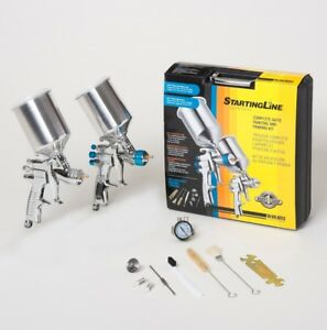 Devilbiss 802343 Startingline Hvlp 2 gun Painting Priming Kit 1 3 1 8 1 5