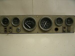 Vintage Hand Crafted Dashboard Instrument Cluster Panel Gauge Panel