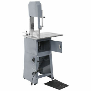 550w Commercial Kitchen Meat Cutter Band Saw Blade Sausage Maker Grinder Slicer