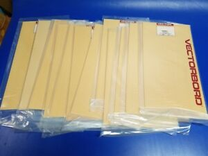 Lot Of 12 New Vector Vectorbord Punchbord Prototype Boards 169p84 8 5 X 17