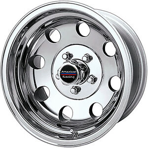 American Racing Baja 17x8 8x165 1 8x6 5 0mm Polished Wheels Rims Ar1727882