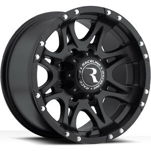 Raceline Raptor 981 18x9 8x165 1 8x6 5 6mm Black Wheels Rims 981 89080 06