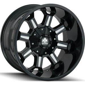 Mayhem Combat 8105 18x9 5x150 5x139 7 5x5 5 12mm Black Milled Wheels Rims
