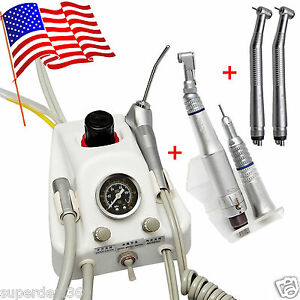 Usa Portable Dental Turbine Unit Nsk High low Speed Handpiece Kit 4 Hole Super