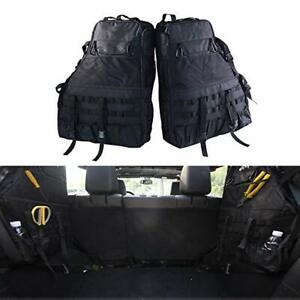 2x Roll Bar Storage Bag With Multi pockets For Jeep Wrangler Jk 4 door 2007 2017