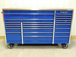 Snap On Blue Krl1023 Tool Box And Stainless Steel Top