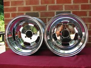 Vintage 15x10 Chrome Slot Wheels 5x4 5 Bc Mopar Ford Amc
