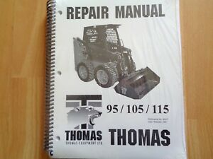 Thomas 95 105 115 Skid Steer Factory Repair Manual Oem Sealed Unused