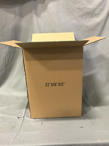 Lot 100 22 16 12 Cardboard Corrugated Moving Shipping Boxes Mailing Packing