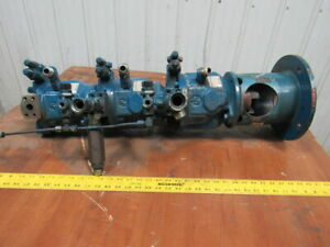 Rexroth Aa10vs028 Stacked Triple Output Axial Piston Hydraulic Pump See Info