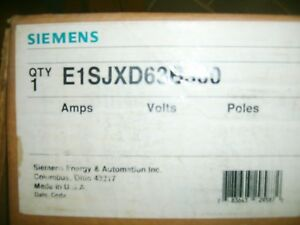 Siemens Circuit Breaker Enclosure E1sjxd63b300 With 300a Breaker Jxd63b300 New