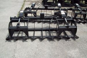 Skid Steer Brush Grapple 78 Width hoses quick Couplers free Business Shipping