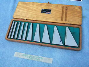 Flat Angle Blocks 10 Abg Ins 1 2 To 30 Machinist Toolmaker Inspect Mill Grind