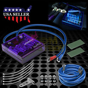 Universal Car Battery Purple Voltage Stabilizer Regulator Ground Wire Efficiency