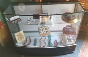 Display Cabinet Counter Show Case Glass And Wood 40 Tall