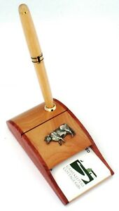 Dairy Cow Wooden Pen And Business Card Holder Farming Gift 97