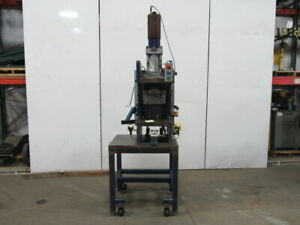 Hydraulic Guided C Frame Press W controls 8 Stroke 6 Throat 12 Opening