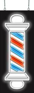 Barber Pole Neon Sign Jantec 2 Sizes Hair Cut Shave Free Shipping