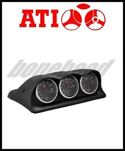 Ati Triple Meter Center Dash Gauge Pod 2003 2006 Mitsubishi Lancer Evo 8