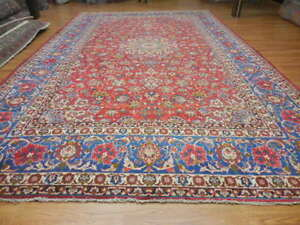 C1940 Antique Persian Naein Nain Isfahan Esfahan Design 10x16 6 Estate Sale Rug