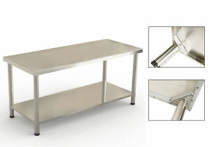 New Work Prep Table Stainless Steel Commercial Kitchen Cafeteria 24 X 72 X 36