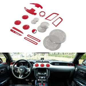 Interior Accessories Decoration Dash Parts Trim Cover Frame Kit For Ford Mustang