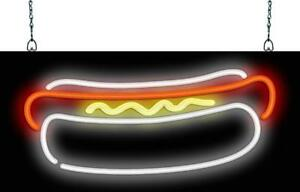 Hot Dog Graphic Neon Sign Jantec 3 Sizes Cafe Diner Food Real Neon