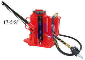 Heavy Duty 32 Ton Air Hydraulic Bottle Jack Lift Range 10 7 8 To 16 15 16