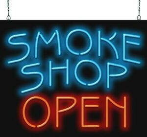 Smoke Shop Open Neon Sign Jantec 2 Sizes Vape Shop Tobacco Cigars