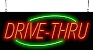 Drive thru Neon Sign Jantec 2 Sizes To Go Fast Food Free Shipping
