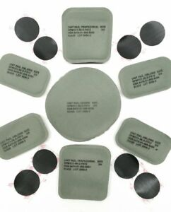 NEW US ARMY ISSUE HELMET PADS SET (7 PADS) FOR THE ACHMICH HELMET w Hook Coin