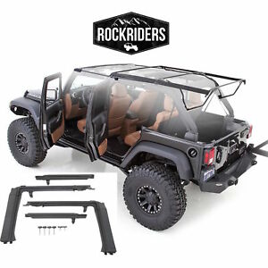 07 17 Jeep Wrangler Unlimited Soft Top Oe Style Bow Assembly Door Surrounds