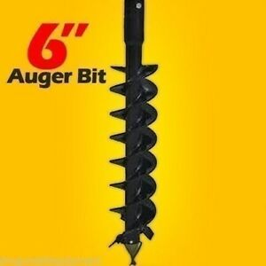 6 X 48 Auger Bit For Skid Steer Auger Drives 2 Hex Drive Fits All Brands Usa