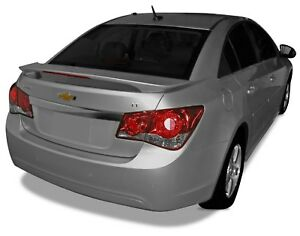 Unpainted Spoiler Deck Wing With Led Brake Light For Chevy Cruze 2010 2015