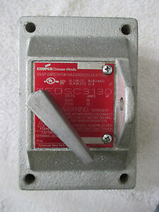 Cooper Crouse hinds Explosion Proof Hazardous Location Snap Switch Edsc3130