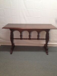 Antique Spanish Revival Sofa Wall Entry Table