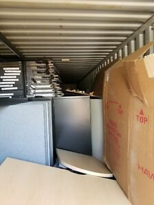 Huge Lot Haworth Office Premise Cubicle Furniture Workstation 2 53ft Containers