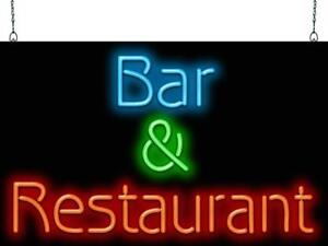 Bar Restaurant Neon Sign Jantec 2 Sizes Free Shipping Real Neon