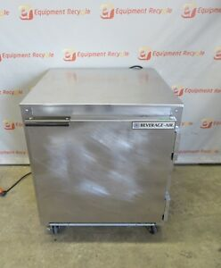 Beverage Air Ucr27 Stainless Beverage Refrigerator Commercial Under Counter 27