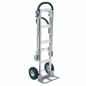 Senior Aluminum 2 in 1 Convertible Hand Truck With Pneumatic Wheels