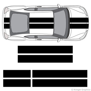 Scion Tc Or Fr s 10 Solid Racing Stripes 3m Vinyl Decal Kit 10in 10 Inch