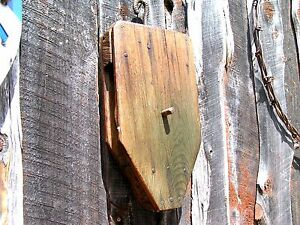 Old Handmade Wooden Rope Pulley