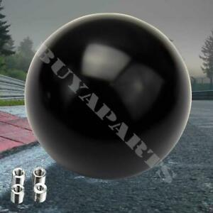 Black Round Ball Style 5 Speed Mannual Mt Shift Knob M10x1 5 Fits Universal