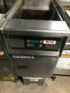 Pitco Frialator Sfssh55 Natural Gas 50 Lb Commercial Floor Fryer Filtration