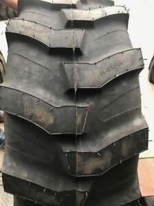 Two New 19 5l 24 12 Ply Mrl Industrial Lug Tractor Loader Tire R4 Backhoe