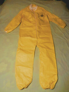 6 New Dupont Chemical Hazmat Disposable Coveralls Suit With Elastic Sleeves