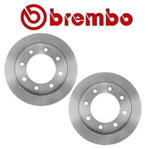 New For Chevrolet Gmc Pair Set Of 2 Rear Brake Disc Rotors Vented 330mm Brembo