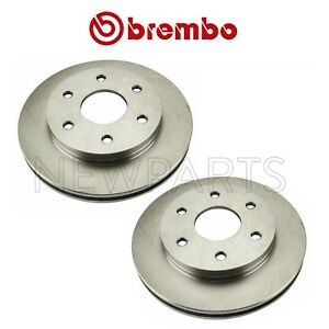 For Chevy Gmc Cady Set Of 2 Front Brake Disc Rotors Vented Coated 305mm Brembo